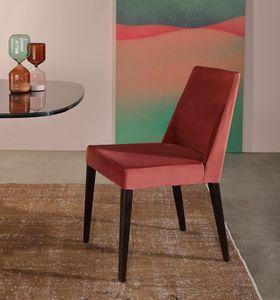 SAM, Gepolsterter Stuhl mit geometrischen Linien