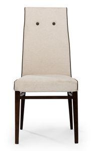 Venus button, Stuhl mit hoher Rückenlehne mit Knöpfen verziert