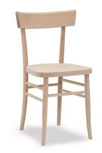 317, Stuhl aus massivem Buchenholz
