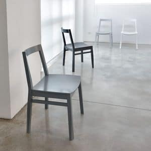 ART. 255 TWIST, Einfache Stuhl aus Buchenholz, Kaffeegebäck