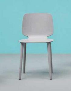 Babila, Eleganter und moderner Stuhl aus Holz