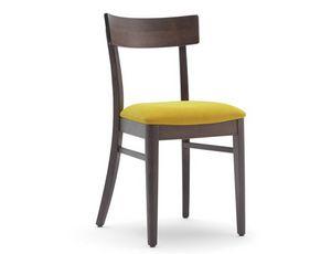 Karen-S, Stuhl für Restaurant mit gepolstertem Sitz