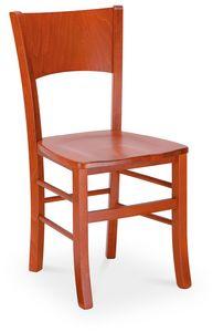 LUNA, Moderner Stuhl aus lackiertem Holz