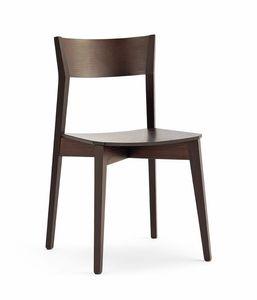 Miss Holz, Stapelbarer Stuhl, in Buche oder Eschenholz