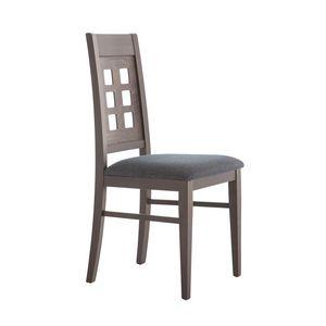 MP490B, Stuhl mit gelochter Rückenlehne aus Holz