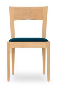 Nico, Holzstuhl für Esszimmer und Bar