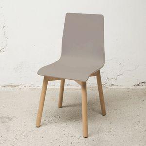 Sedia Bolz, Stuhl mit Schale aus FENIX Laminat