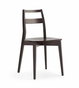 TRIS Holz, Resistenter Holzstuhl mit Sperrholzsitz