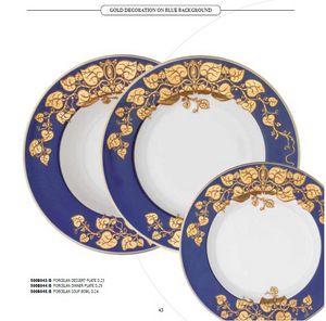 DEC dishes, Porzellanteller mit verschiedenen Dekorationen