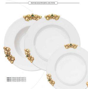 FUSIONE dishes, Porzellanteller mit goldenen Verzierungen
