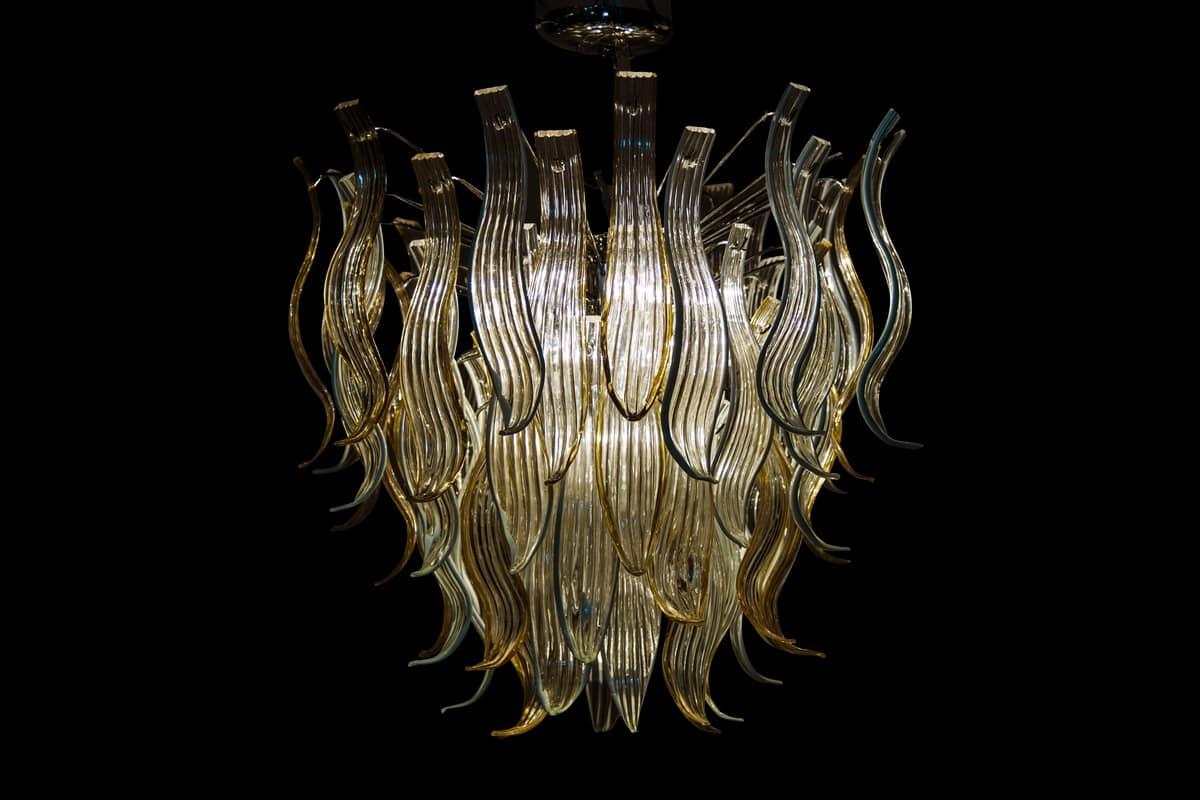 Kronleuchter Glas handgefertigte kronleuchter aus glas idfdesign