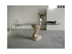 Essenza, Tabelle für zu Hause oder im Büro, mit einem Steinsockel