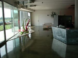 Bild von Autoleveling epoxy resin floors for stores, k�nstlerischer boden
