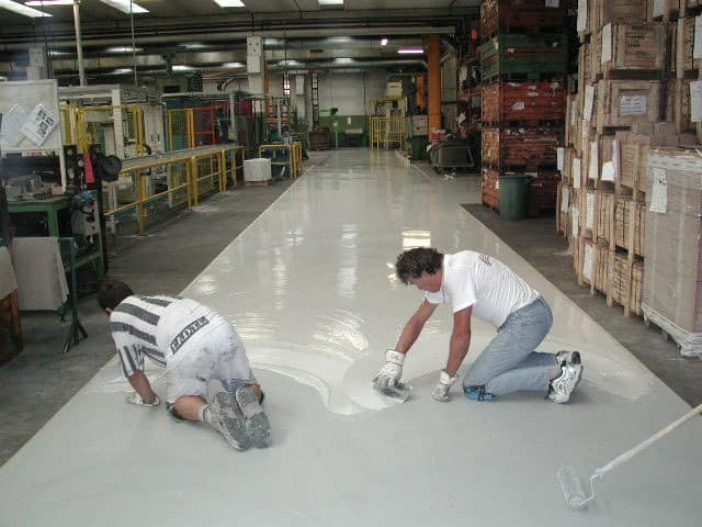 epoxy resin floors for the industry 2, Spatula Boden Weinstube