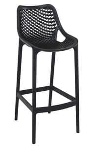 Alice - SG, Moderner stapelbarer Stuhl ideal für Bar und Hotel