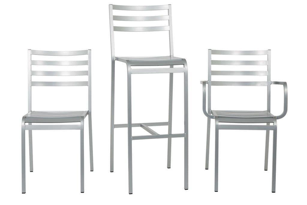 aluminium barhocker f r den au enbereich horizontalen. Black Bedroom Furniture Sets. Home Design Ideas