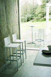 Liberty cod. 26/60, Moderne Aluminium Barhocker für Restaurants und Bars