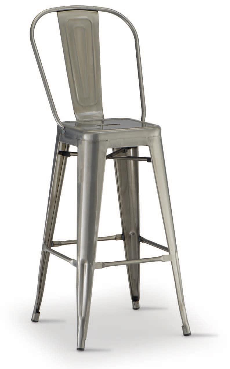 SG 503 / EST, Stapelbaren Stuhl aus verzinktem Metall, für den Außenbereich