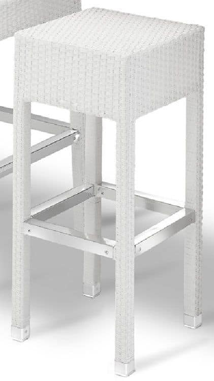 SG 710, Moderne gewebt Hocker mit Fußstütze, für den Außenbereich