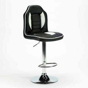 Hocker für Spielzimmer und Bars aus Kunstleder RACING Design - SGA800RSPN, Gepolsterter Hocker, Racing-Design