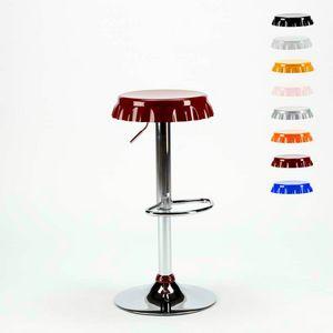 Hocker in Form einer Bottle Cap Bar und Küche DALLAS Design - SGA800DAL, Hocker in Form einer Kappe mit Fußstütze
