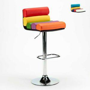 Hocker Verkauf Spiele Pubs und Brauereien Farbige Kunstleder Design LONG BEACH - SGA800LNG, Hocker aus Kunstleder für Spielräume