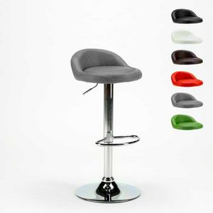 Hoher Hocker für Küche und verchromtem Kunstleder Bar BALTIMORA - SGA800BAL, Barhocker mit Kunstledersitz