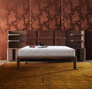 710117 York, Bett mit Kopfteil mit Regalen ausgestattet