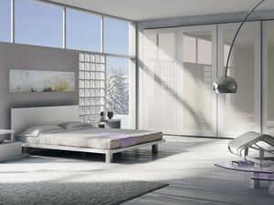 Bett Design 22, Doppelbett komplett aus Holz