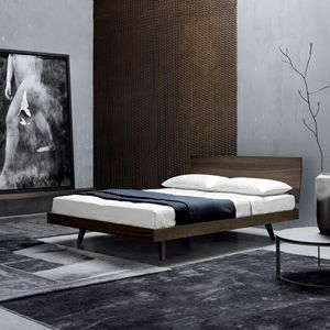 FILO, Doppelbett mit Kopfteil aus Holz
