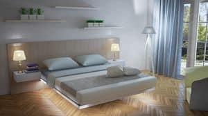 Floating, Herbe Bett, saubere und leichte Form, integrierte Nachttische