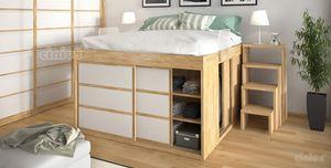 Impero mit Schrank, Platzsparendes Bett mit Schrank mit Türen