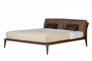 Indigo Bett, Bett mit einem sauberen Design