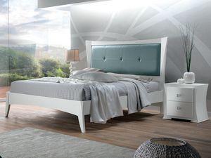 Vela Bett, Weißes Holzbett