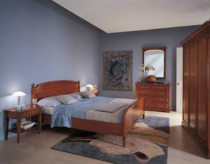 Villa Borghese Doppelbett 2371, Doppelbett im Directoire-Stil