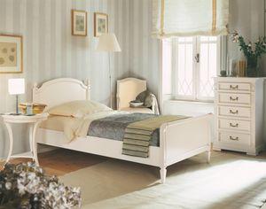 Villa Borghese Einzelbett 2370, Einzelbett im Directoire-Stil