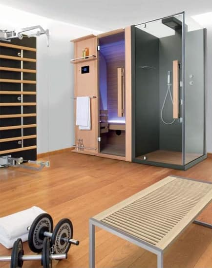 Linear Sauna In Holz Und Glas Fur Spa Idfdesign