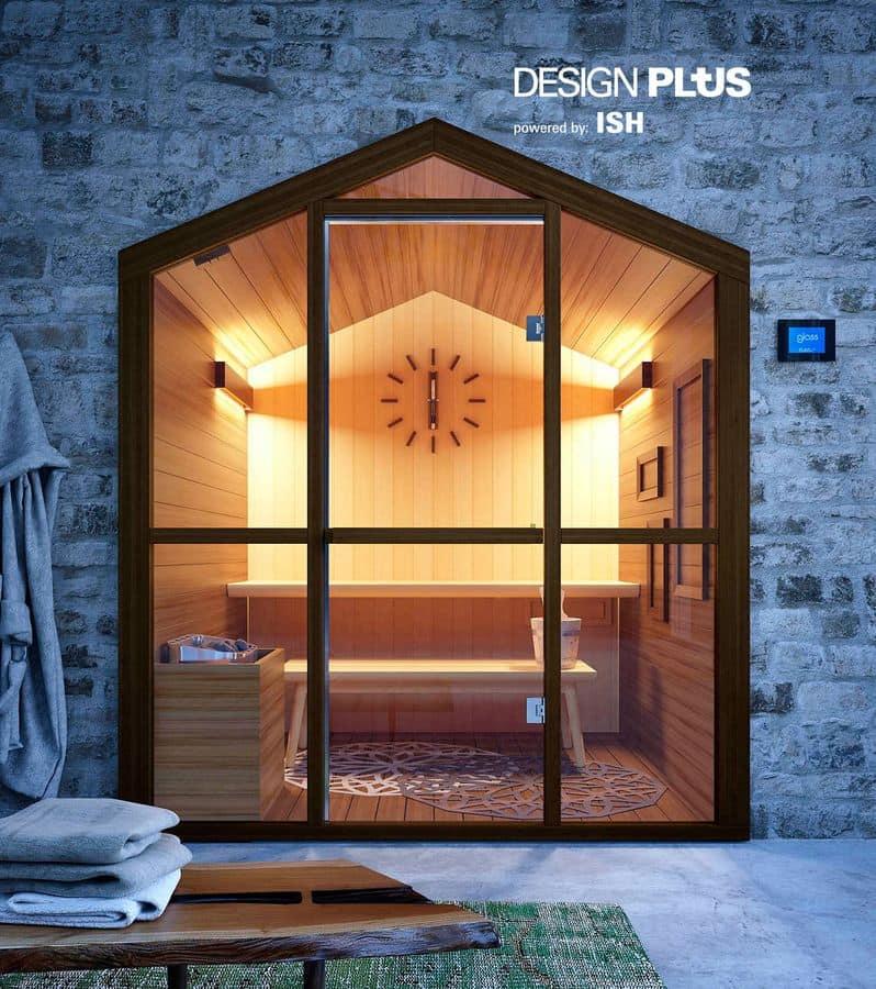 sauna mit form von zu hause f r fitnessbereich idfdesign