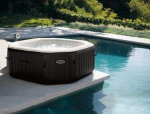 Wanne über dem Boden Intex - 28456, Aufblasbare Badewanne, solide und ruhig, für maximal 6 Personen