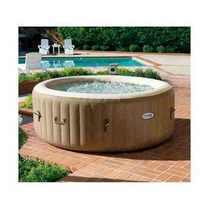 Aufblasbarer Whirlpool Intex 28404 Bubble Spa rund 196x71 - 28404, Aufblasbares Mini-Pool mit Whirlpool