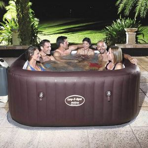 Bestway Aufblasbare Hydromassage 54173 Lay Z Maldives SPA - 54173, Aufblasbares Mini-Pool mit Whirlpool