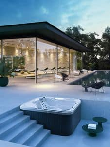 mini swimmingpool vom garten mit whirlpool f r den au enbereich idfdesign. Black Bedroom Furniture Sets. Home Design Ideas