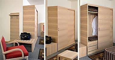 Collezione Host, Maßgeschneiderte Möbel mit Schlafzimmer und Küchenblock, Eiche gebleicht Holz-Finish