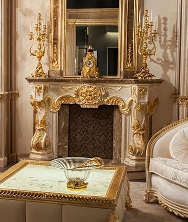 Art. CAM, Kamin Für Luxuriöse Villen, Von Hand Geschnitzt