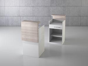 QF/5BC, Theke aus Holzladen mit Schublade