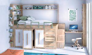 Impero-Young, Kinderbett mit platzsparenden Möbeln
