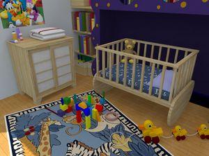 Milly, Kinderbett verwandelbar in ein Sofa