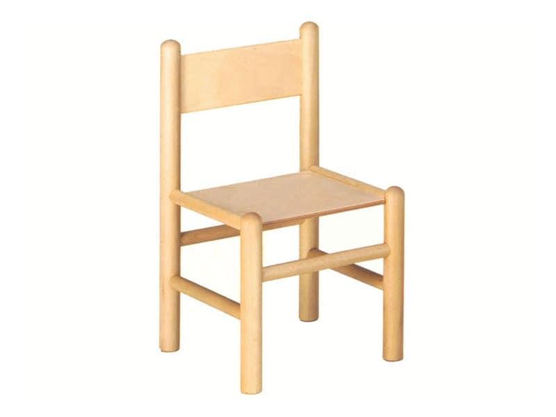 940, Kinderstuhl, aus Buchenholz, geeignet für Schulbänke