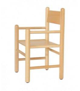 941, Kinderstuhl mit Armlehnen, erhältlich in den Farben