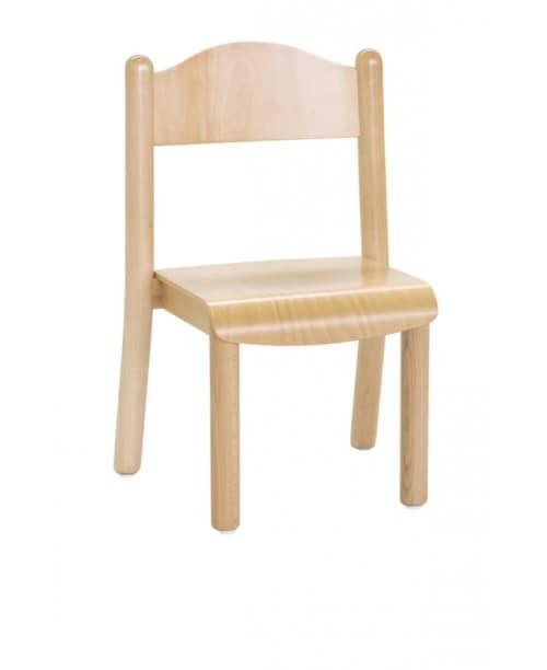 CIAO, Stapeln von kleinen Stühlen, in farbigen Holz, für den Kindergarten